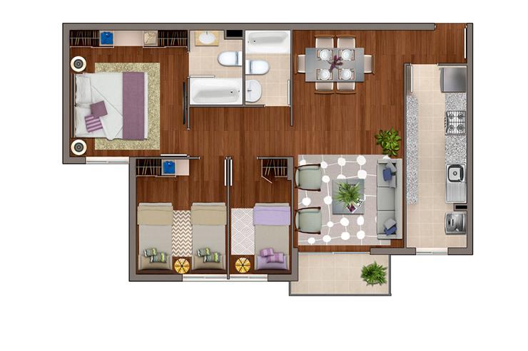 Ciudad del este departamentos inmobiliaria aconcagua for Modelos mini departamentos interiores