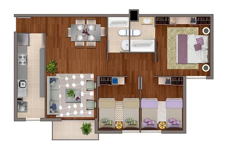 Ciudad del este departamentos inmobiliaria aconcagua for Modelos de departamentos